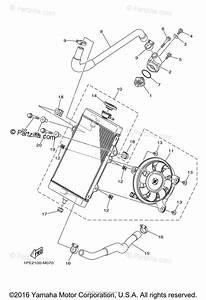 Yamaha Atv 2016 Oem Parts Diagram For Radiator Hose