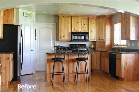 painted kitchens before and after white painted kitchen cabinet reveal with before and after 129 | kitchen before with text
