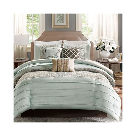 deals madison park cotswald pleated 7 pc comforter set