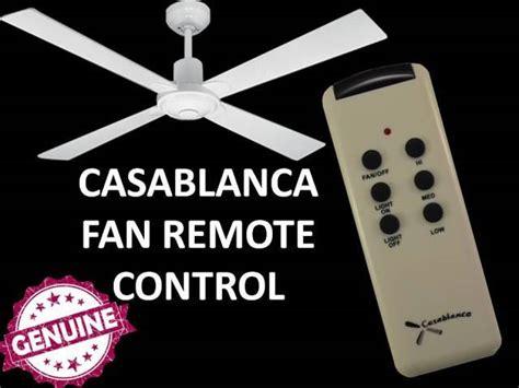 Casablanca Ceiling Fan Remote Control