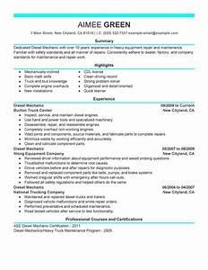 best diesel mechanic resume example livecareer With diesel mechanic resume search