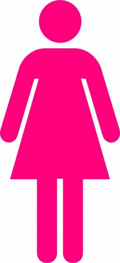 Clip Clipart Woman Symbol Bathroom Toilet Pink