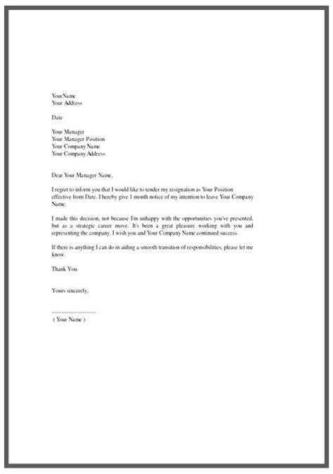 letter  resignation cover letter cv template