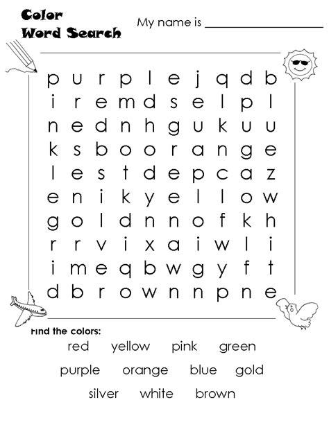 word search worksheets kindergarten black cat worksheets for kids color word search color vocab blue etc worksheets for