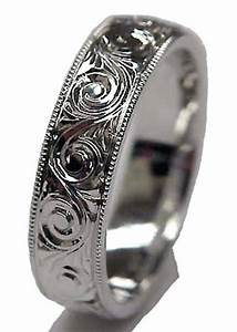 Wedding Band Engraved Patterns | Hand Engraved Ring in ...