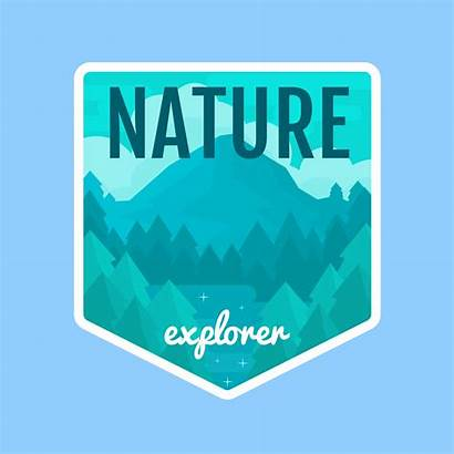 Nature Explorer Illustration Vector Badge Clipart Graphics