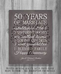 50th anniversary gift for parents keepsake 50 year anniversary With 50 year wedding anniversary gift