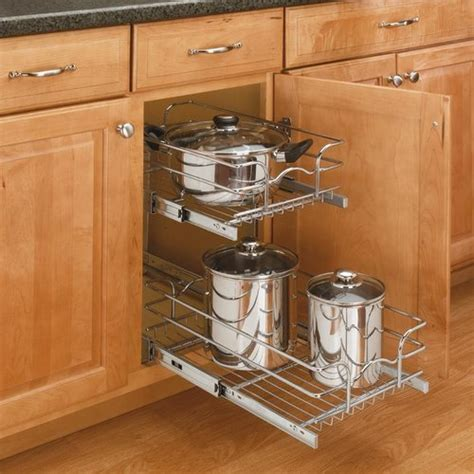 pull out baskets kitchen cabinets rev a shelf 21 quot pull out basket chrome 5wb2 2122 cr 7596