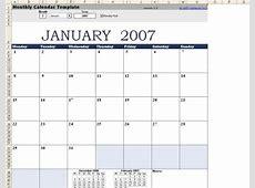 Plantilla de calendario mensual Excel para Mac Descargar