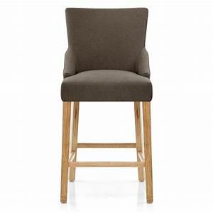 Chaise Bar Bois : chaise de bar tissu bois magna monde du tabouret ~ Teatrodelosmanantiales.com Idées de Décoration