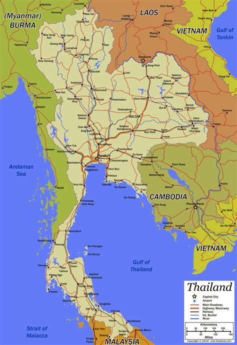 thailand map road