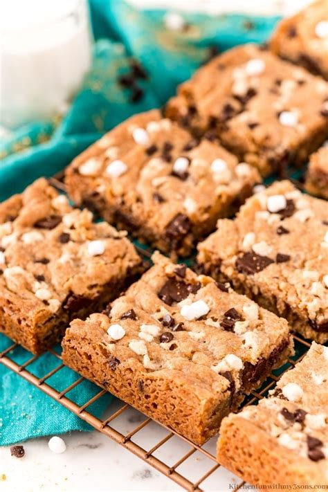 S'mores Cookie Bars Recipe - Kitchen Fun With My 3 Sons