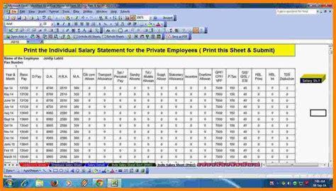 employees salary sheet format sales slip template