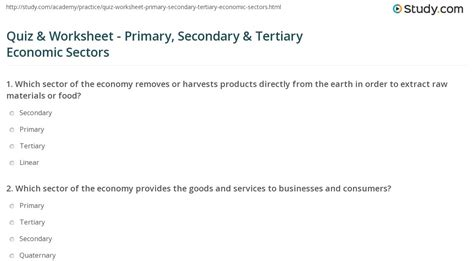 Maybe you would like to learn more about one of these? Primary Secondary Tertiary Economic Activities Worksheet - A Worksheet Blog