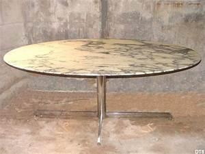 Table Marbre Ovale : table ovale en marbre roche bobois meuble de salon contemporain ~ Teatrodelosmanantiales.com Idées de Décoration