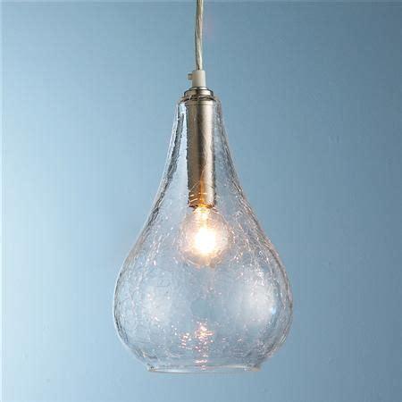 glass bulb pendant clear crackled or mercury glass