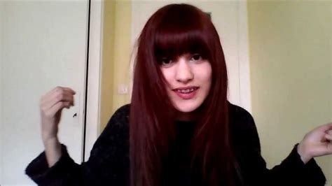Wine Red Hair With Etude House Bubble Hair