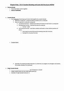 Covalent Bonding And Lewis Dot Structures Notes Printable