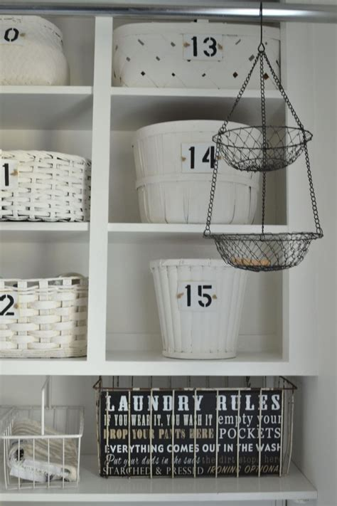 Hometalk  How I Organized My Open Cabinets In The Laundry