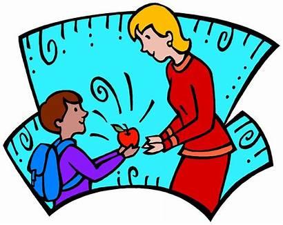 Teacher Clipart Student Clip Relationship Kindergarten Apple