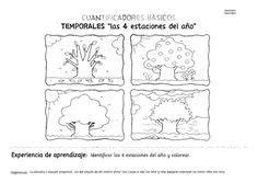De Las 4 Estaciones Del Año Science Spanish worksheets