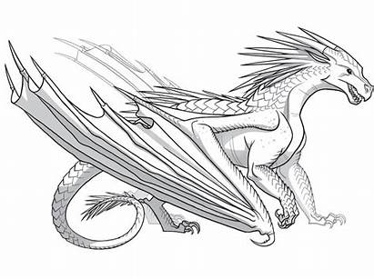 Wings Coloring Fire Dragon Dragons Colouring Drawing