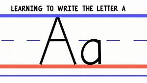 Write the Letter A - ABC Writing for Kids - Alphabet ...