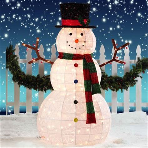 outdoor lighted snowman decorations snowman outdoor lights 12 ways to make your christmas
