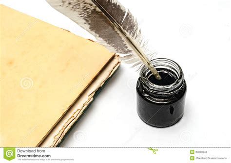 Quill And Inkwell Stock Photo. Image Of Writer, Container