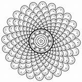 Mandala Coloring Spiral Pages Printable Sheet Moon Designs M110 Phases sketch template
