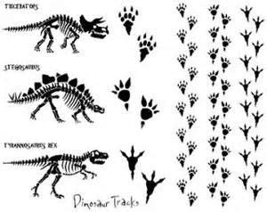 shiloette images  dinosause claws prints bing images
