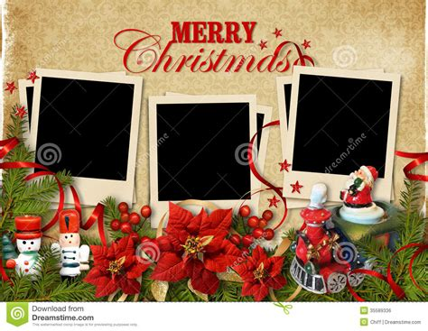 christmas vintage background  frames  family