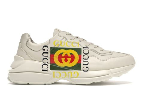 Womens gucci rhyton sneaker white low top sneakers hybrid styles continue to enrich guccis design narrative bringing two worlds together to create the unexpected. Gucci Rhyton Logo Ivory - 500878 DRW00 9522
