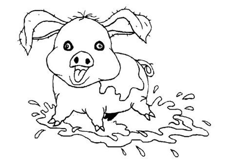 pig love to bath in mud coloring page coloring sky
