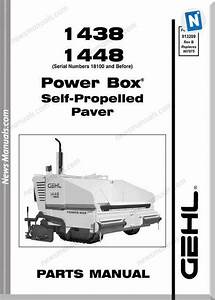 Gehl 1438 1448 Asphalt Paver Parts Manual 913209b