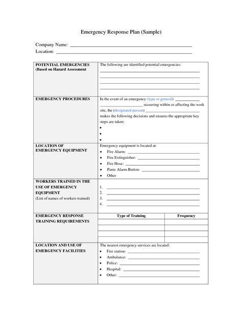 Emergency Preparedness And Response Plan Template Best Photos Of Sle Emergency Plan Emergency