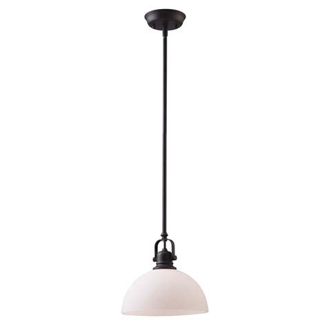 lowes barn light shop canarm rowan 10 in oil rubbed bronze barn single dome pendant at lowes com