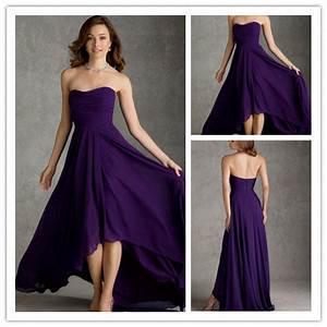 elegant purple short front long back sweetheart chiffon With purple summer dresses for weddings