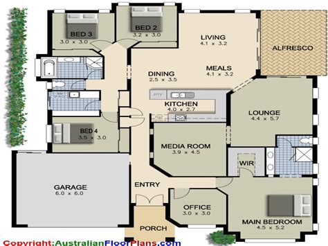 great room house plans one 4 bedroom ranch house plans 4 bedroom house plans modern