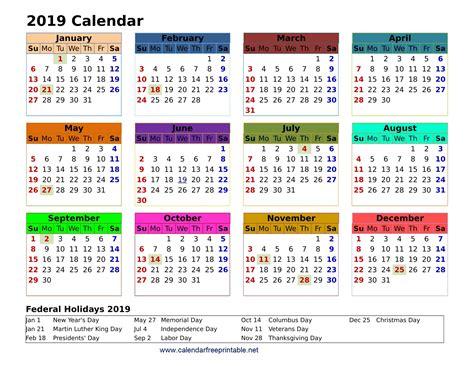Calendar Free Printable