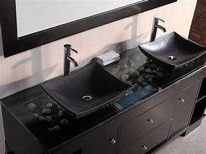 bathroom rectangle lowes sink vanity with black With white bathroom vanity with black countertop