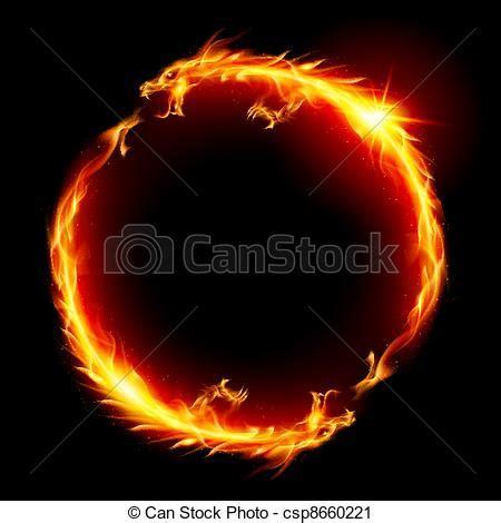 Fireplace Der Clip - vektor clip drachen ring feuer der