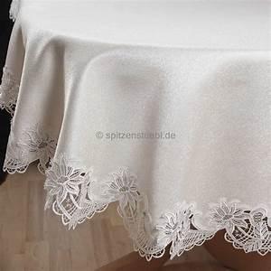 Tischdecke Mit Spitze : tischdecken rund g nstige tischdecken plauener spitze ~ Lizthompson.info Haus und Dekorationen