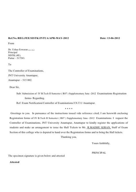 registration forms covering letter