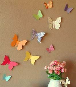 image gallery handmade wall decorating ideas With what kind of paint to use on kitchen cabinets for 3d butterfly wall art diy