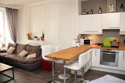 les chauffantes cuisine 54 vue salon cuisine ouverte après travaux home id