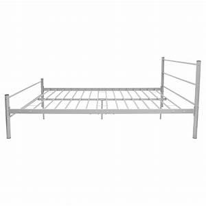 Cadre De Lit 160 : acheter vidaxl cadre de lit m tal gris 160 x 200 cm pas ~ Preciouscoupons.com Idées de Décoration