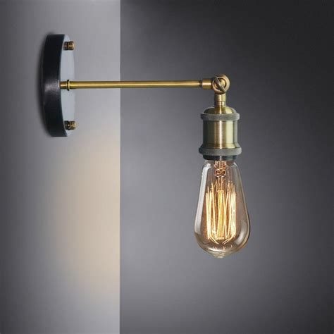 buy industrial style wall l with adjustable knob at