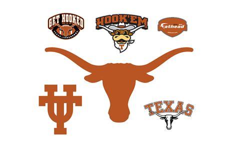 texas longhorns logo wall decal shop fathead for texas longhorns decor