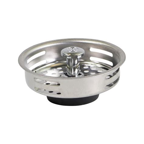 universal kitchen sink stopper the plumber s choice 3 1 2 in strainer basket universal